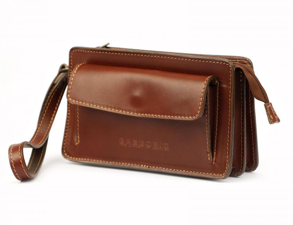 Hnědá kožená pánská dokladová taška / etue Gregorio 2123