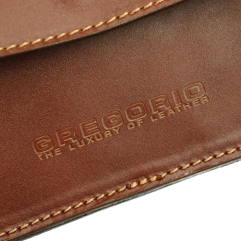 Hnedá kožená pánska dokladová taška / etue Gregorio 2123