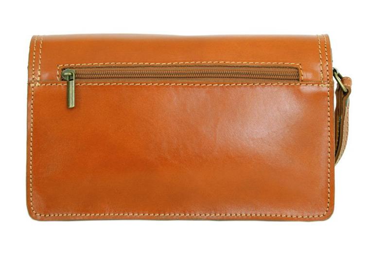 Hnědá kožená pánská dokladová taška / etue Vera Pelle