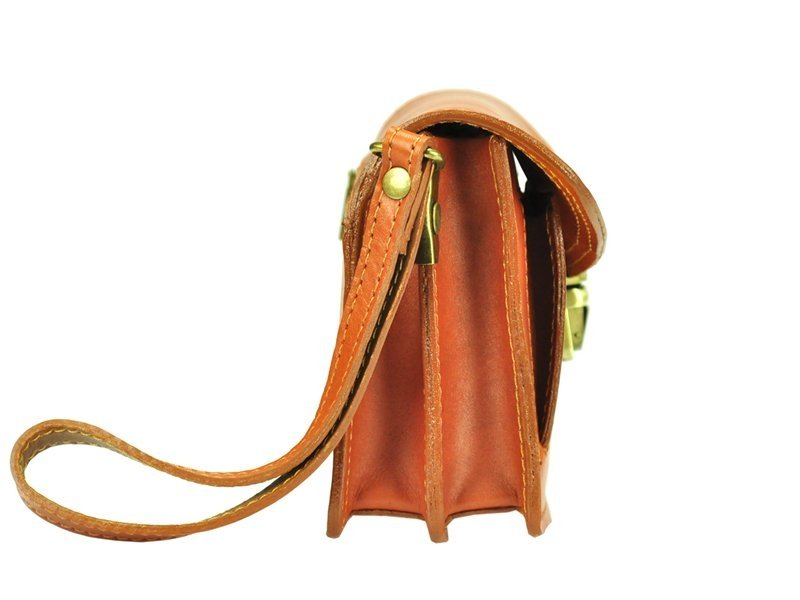 Hnědá kožená pánská dokladová taška / etue Gregorio
