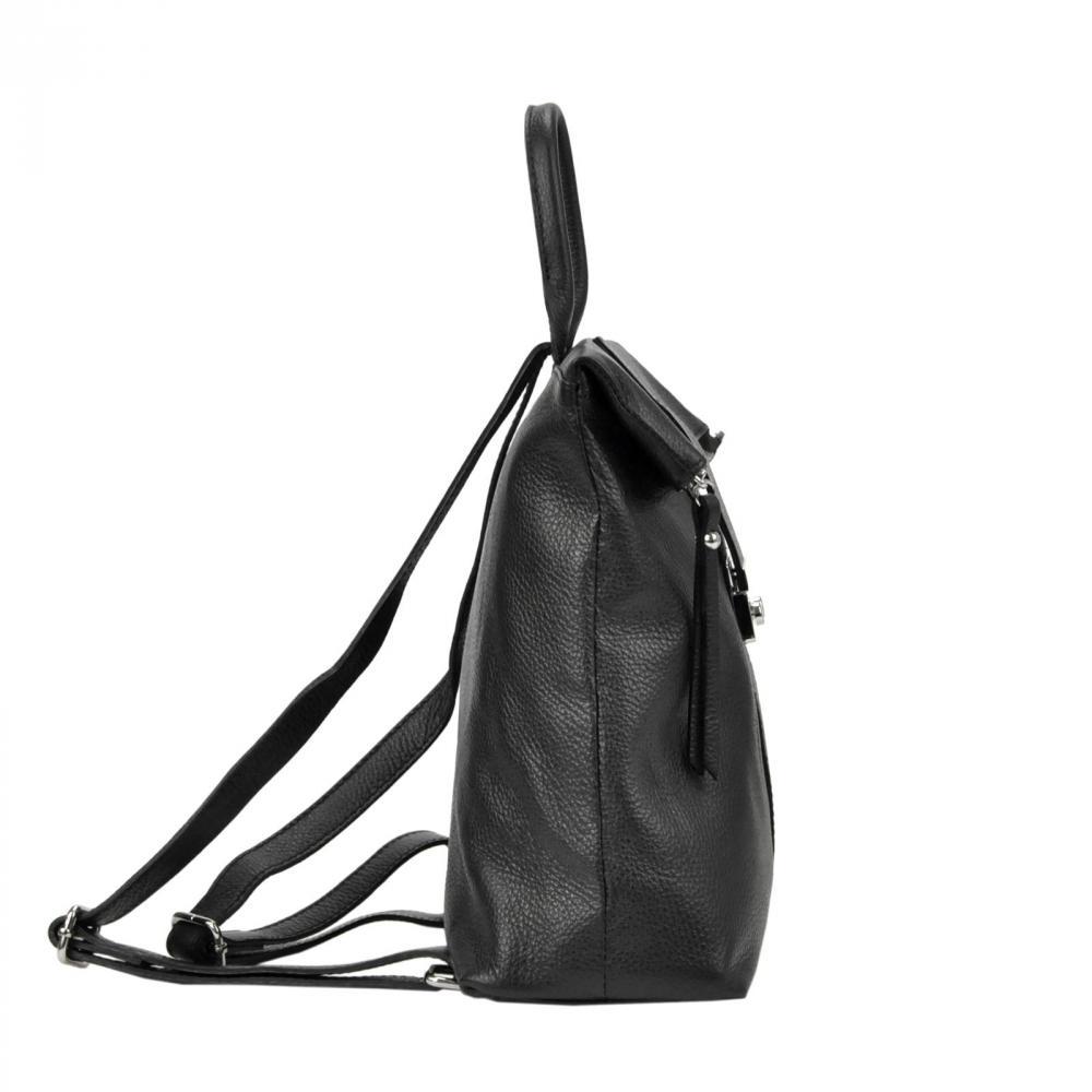 Kožený dámský módní batůžek Patrizia Piu černý