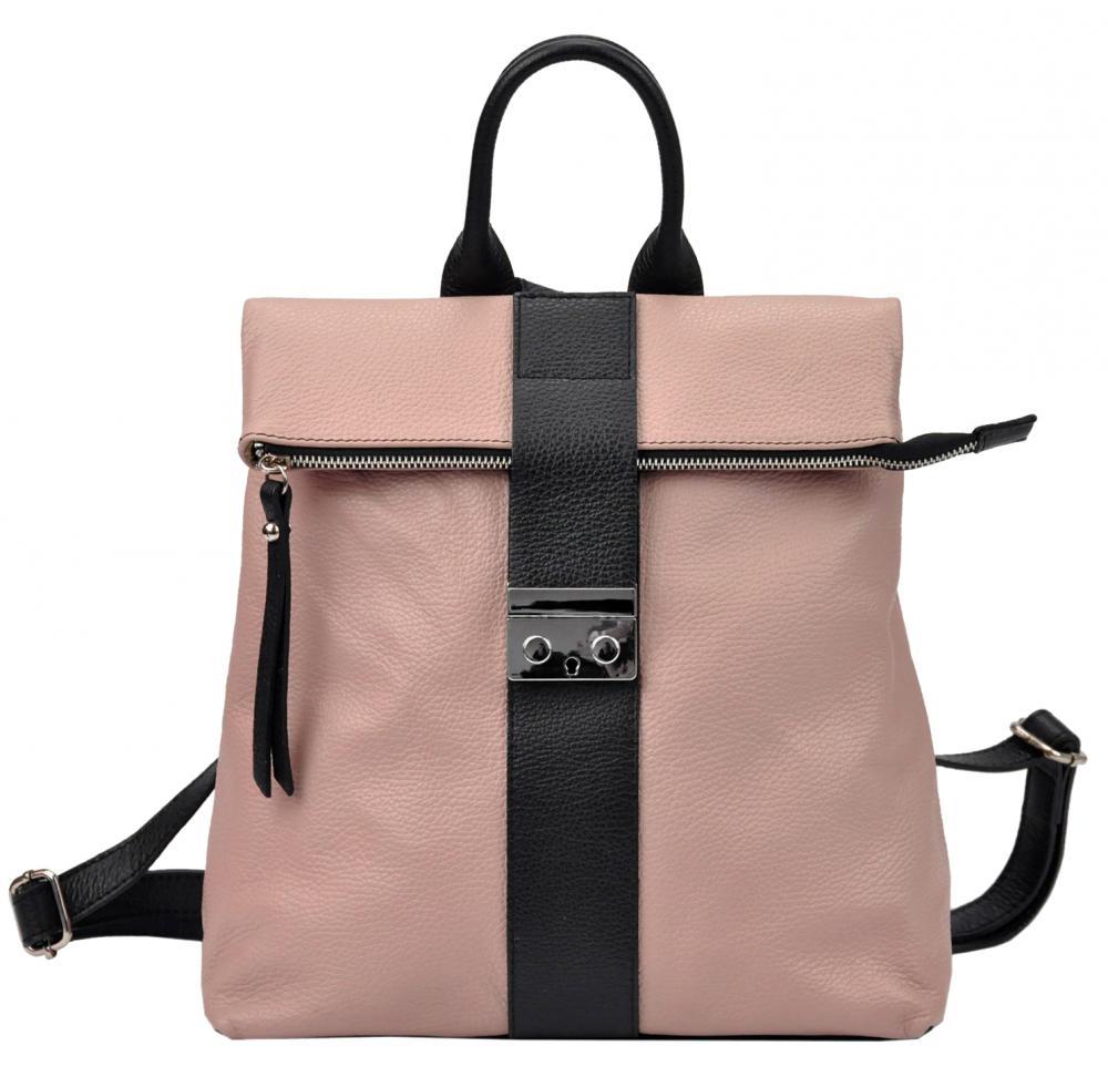 PATRIZIA PIU luxusní růžový dámský batůžek z pravé kůže