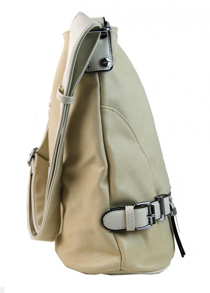 Velká dámská crossbody kabelka L2040 béžová