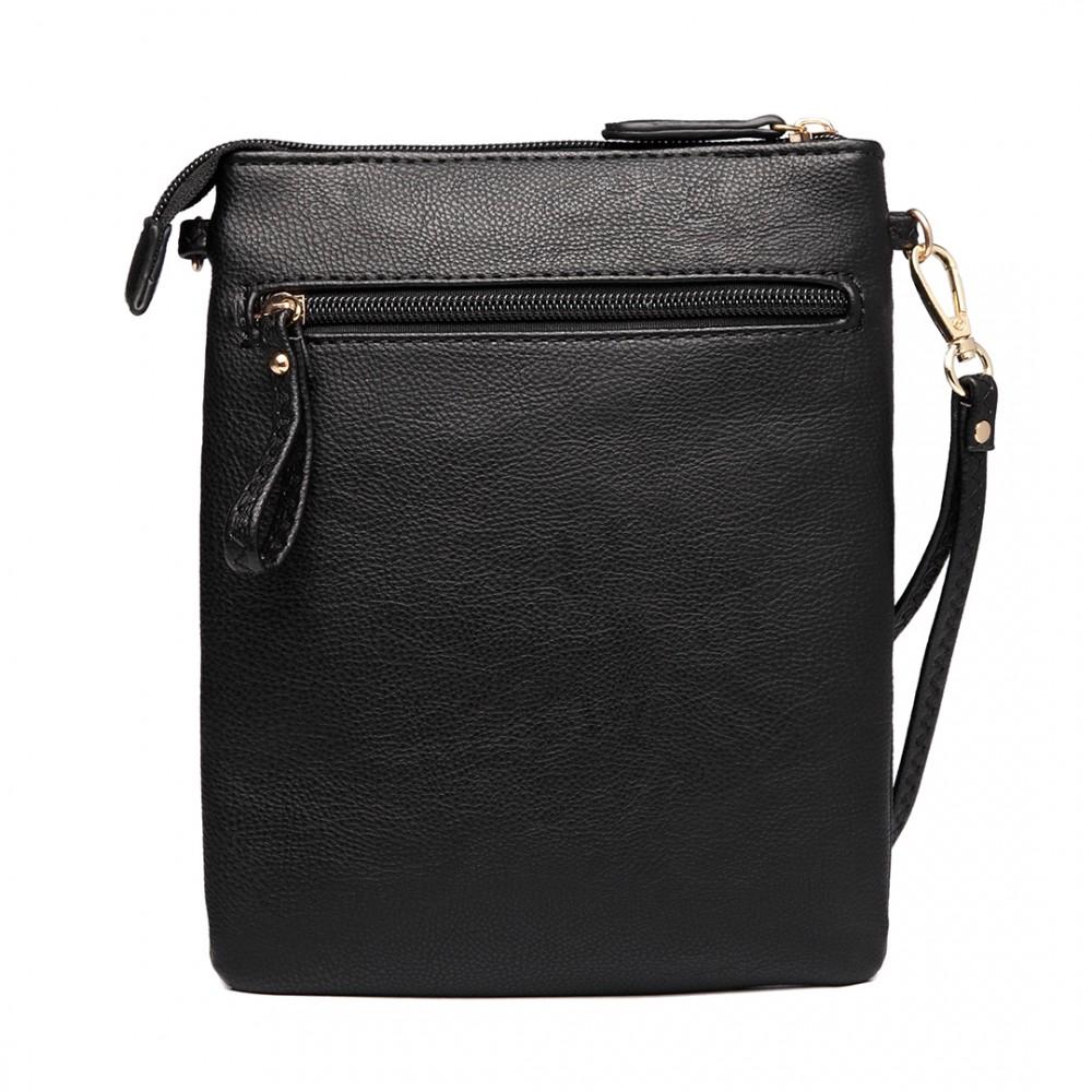 Černá crossbody dámská kabelka Miss Lulu