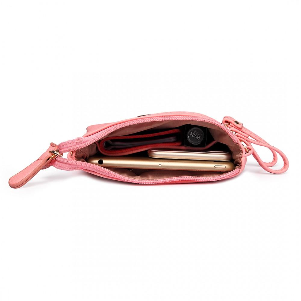 Růžová crossbody dámská kabelka Miss Lulu