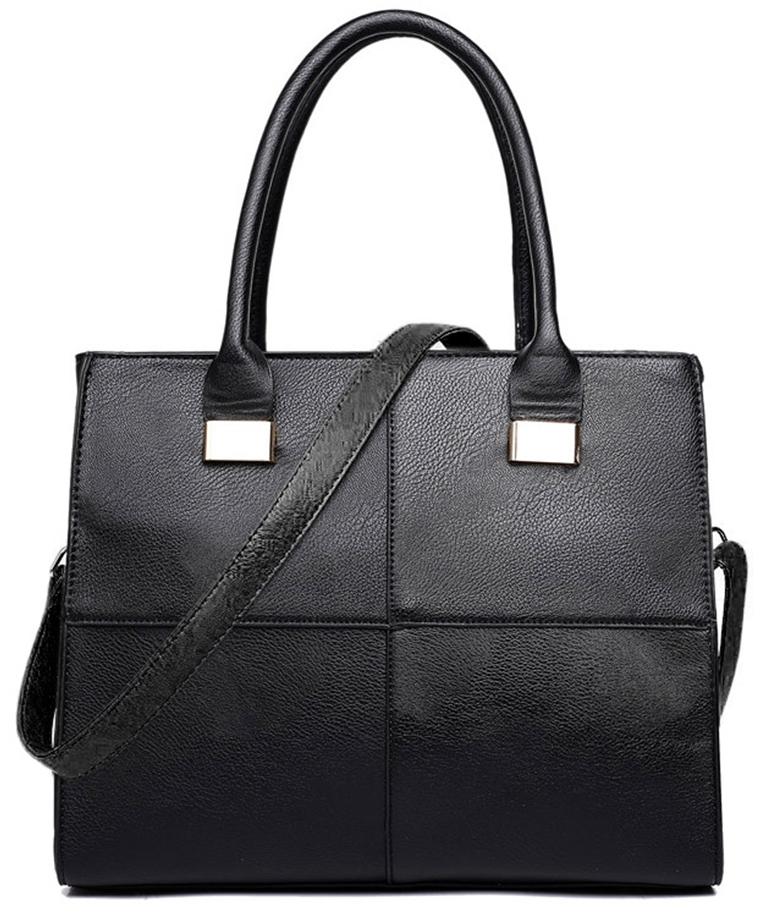 Černá moderní dámská kabelka Miss Lulu