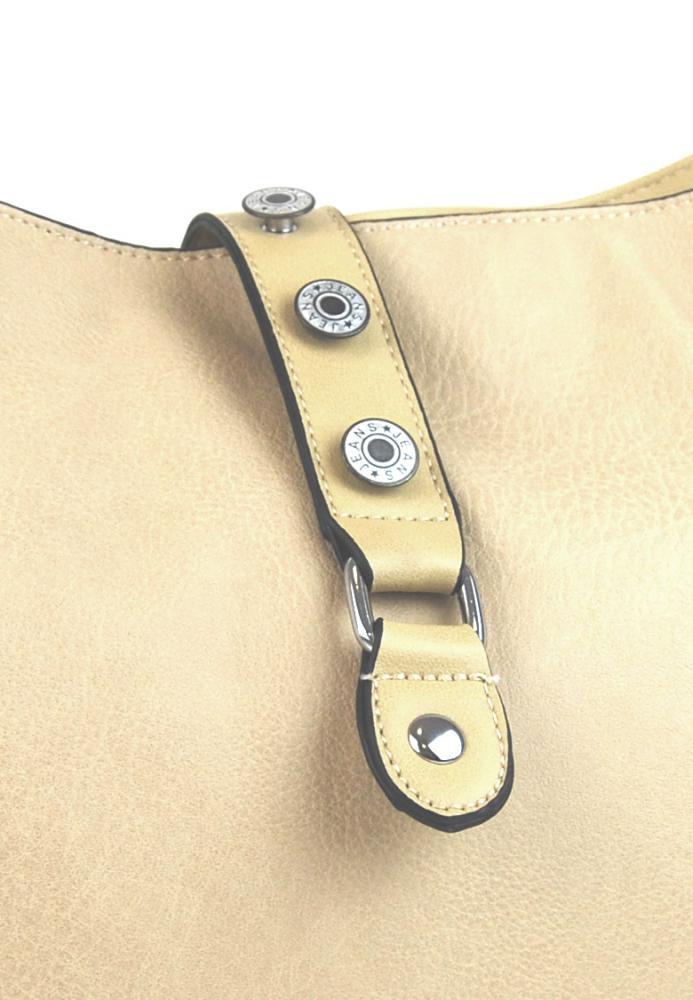 Velká dámská crossbody kabelka L2037 béžová