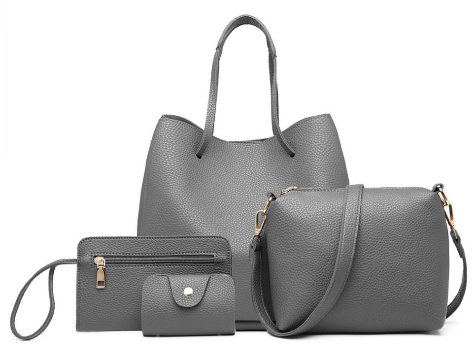 Praktický dámsky kabelkový set 4v1 Miss Lulu šedá