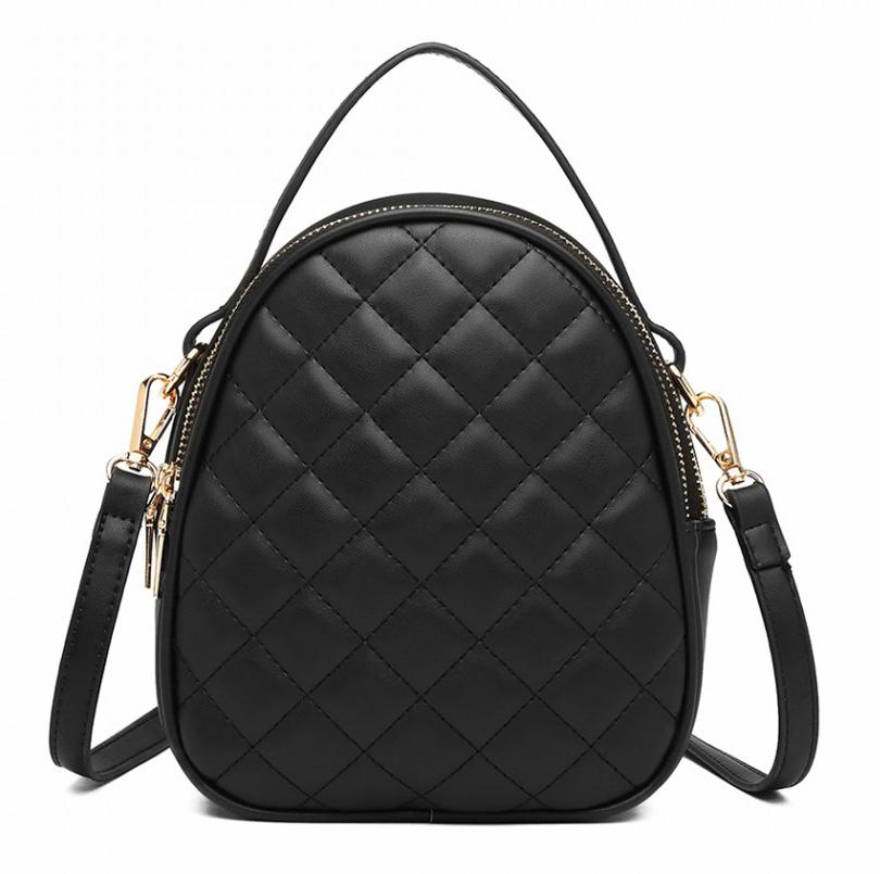 Čierna crossbody dámska kabelka s uškom Miss Lulu