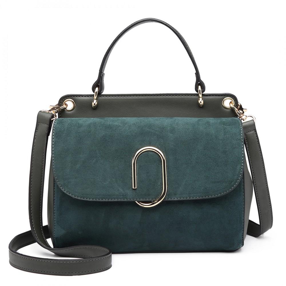 Originální zelená menší dámská kabelka Miss Lulu