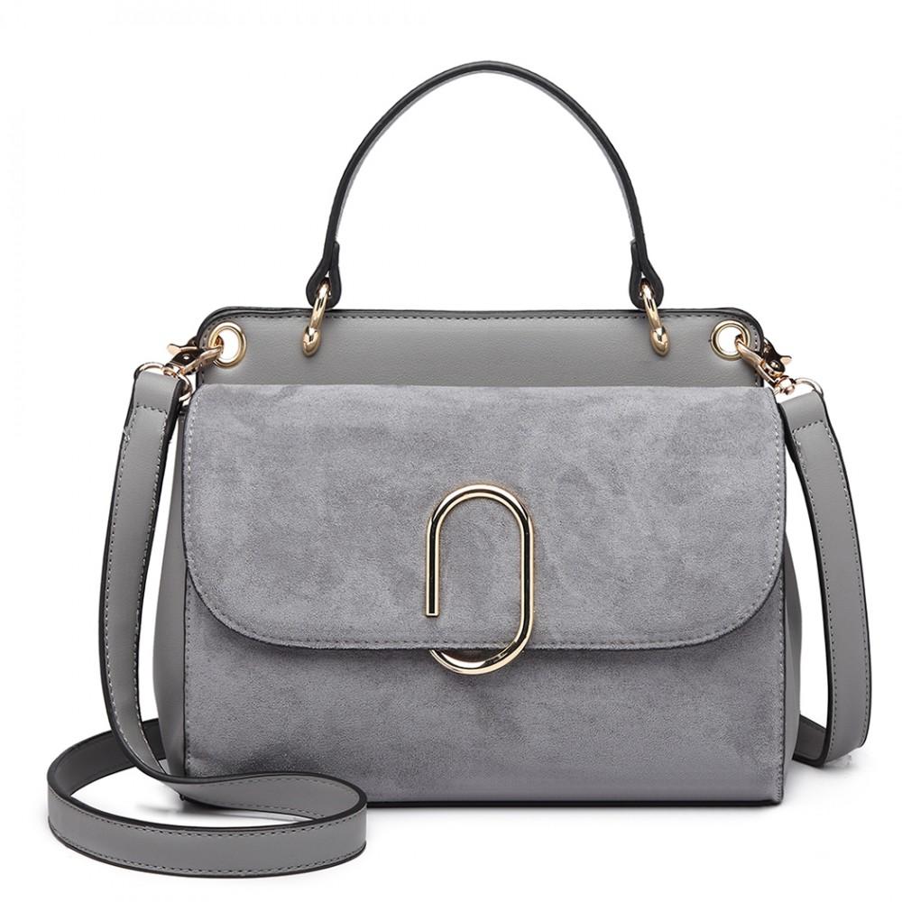 Originální šedá menší dámská kabelka Miss Lulu