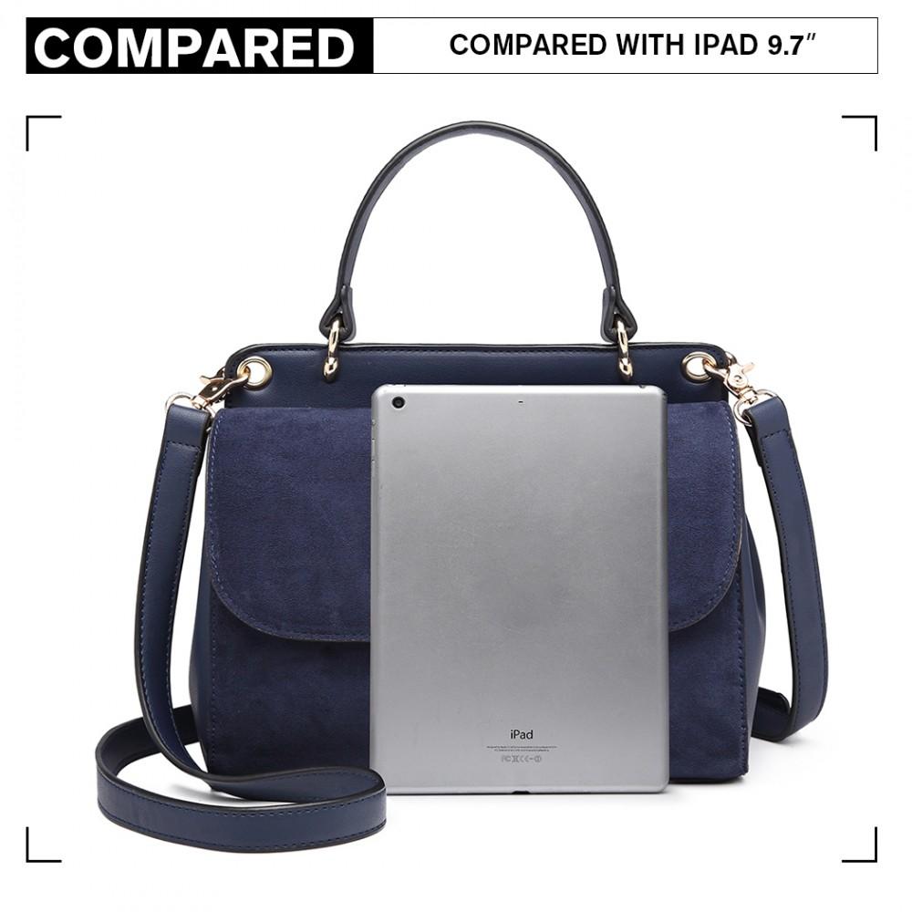 Originální modrá menší dámská kabelka Miss Lulu