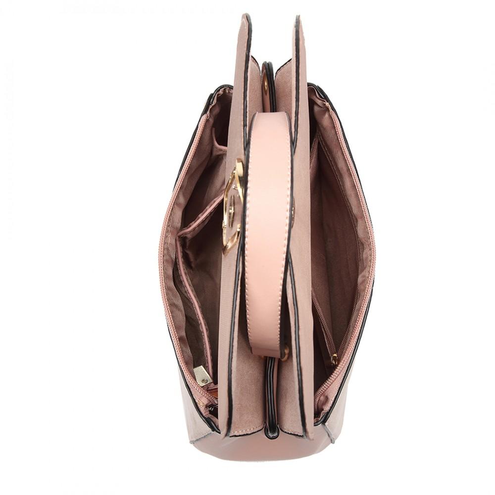 Originální růžová menší dámská kabelka Miss Lulu