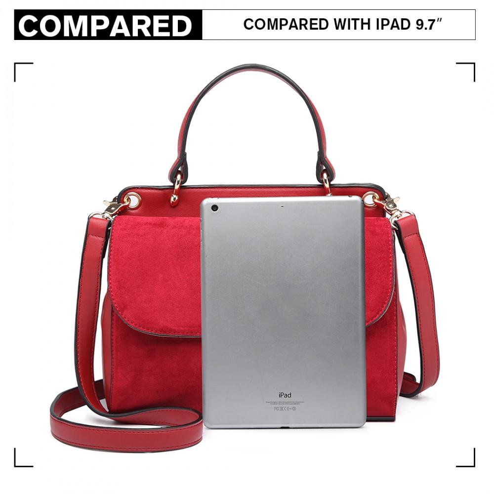 Originálna červená menšia dámska kabelka Miss Lulu