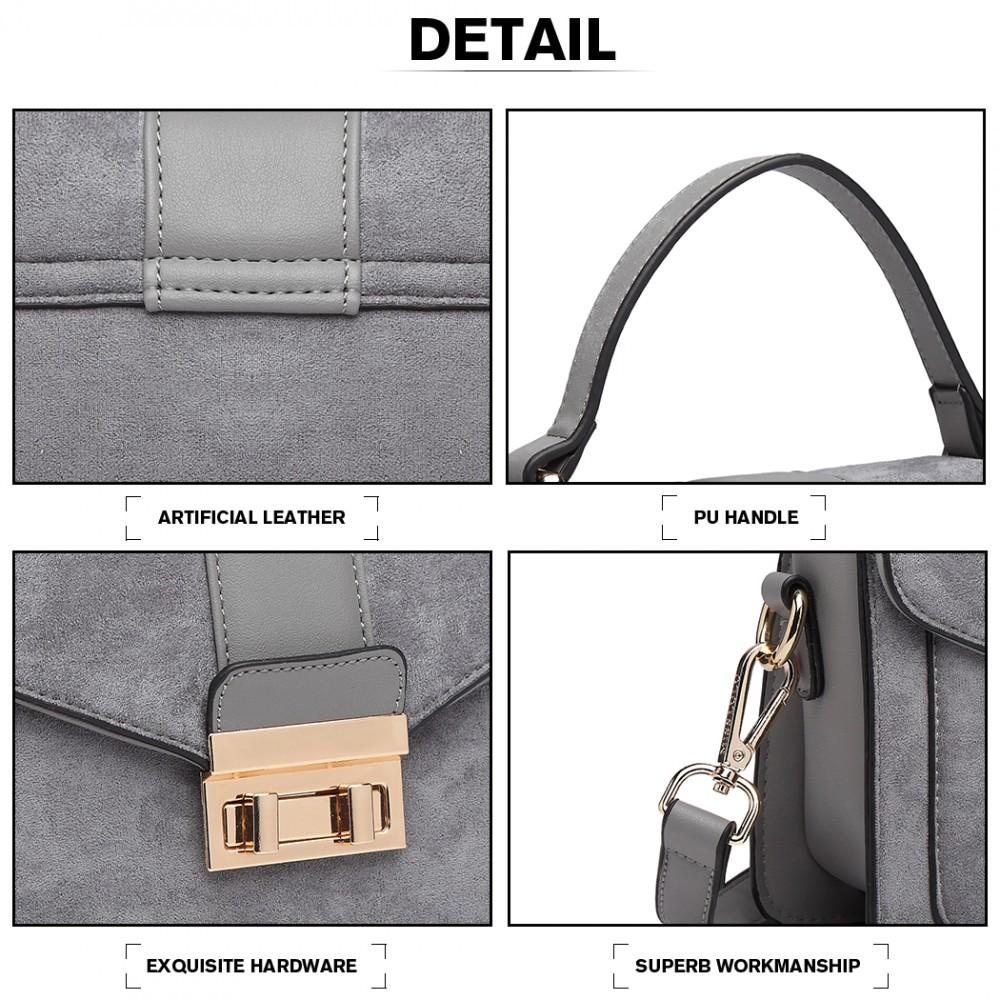 Štýlová sivá menšia dámska kabelka Miss Lulu