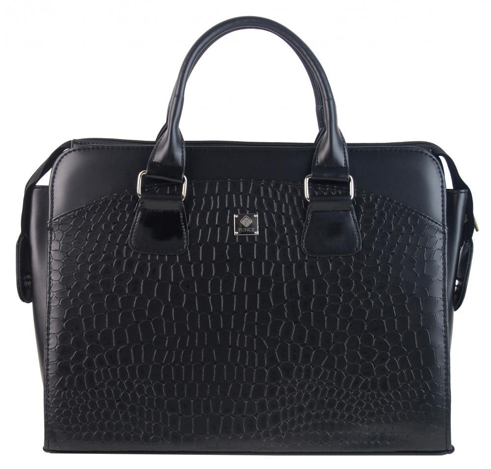 PUNCE LC-01 čierna matná dámska kabelka pre notebook do 15.6 palca