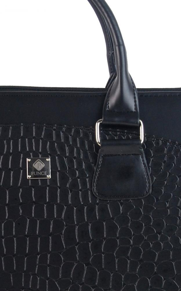 PUNCE LC-01 černá matná dámská kabelka pro notebook do 15.6 palce