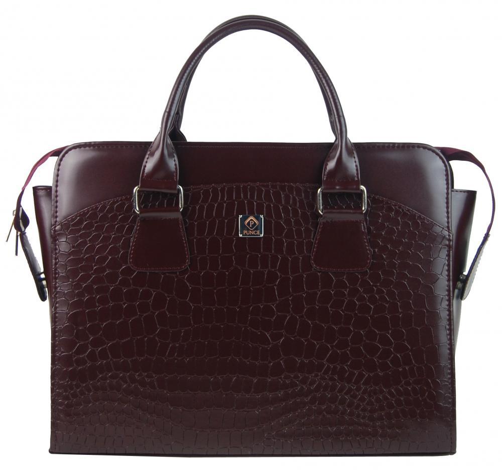 PUNCE Bordová matná dámská taška na notebook do 15.6 palce