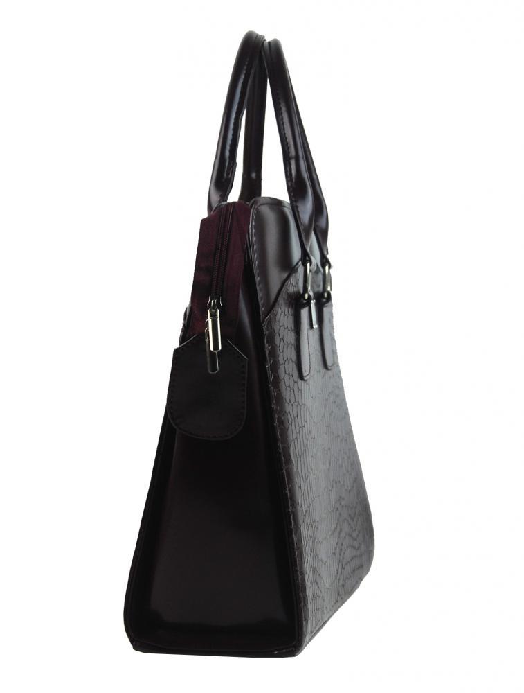 PUNCE LC-01 bordová matná dámska kabelka pre notebook do 15.6 palca