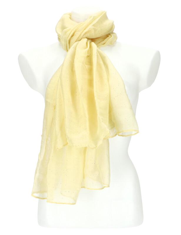 Dámský letní jednobarevný šátek 180x90 cm krémová
