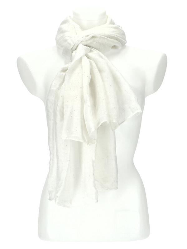 Dámský letní jednobarevný šátek 180x90 cm bílá