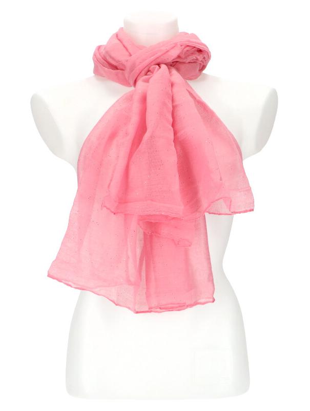 Dámský letní jednobarevný šátek 180x90 cm fuchsiová růžová