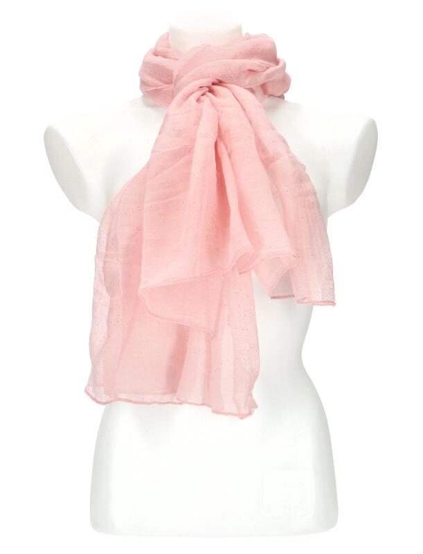 Dámska letná jednofarebná šatka 180x90 cm ružová