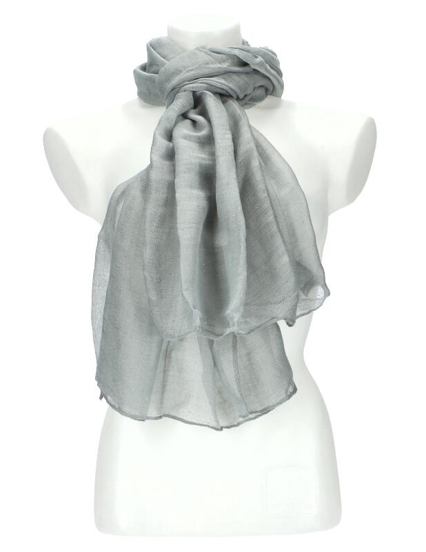 Dámska letná jednofarebná šatka 180x90 cm šedá