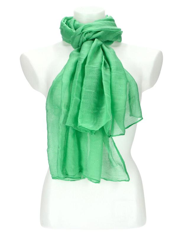 Dámska letná jednofarebná šatka 180x90 cm zelená