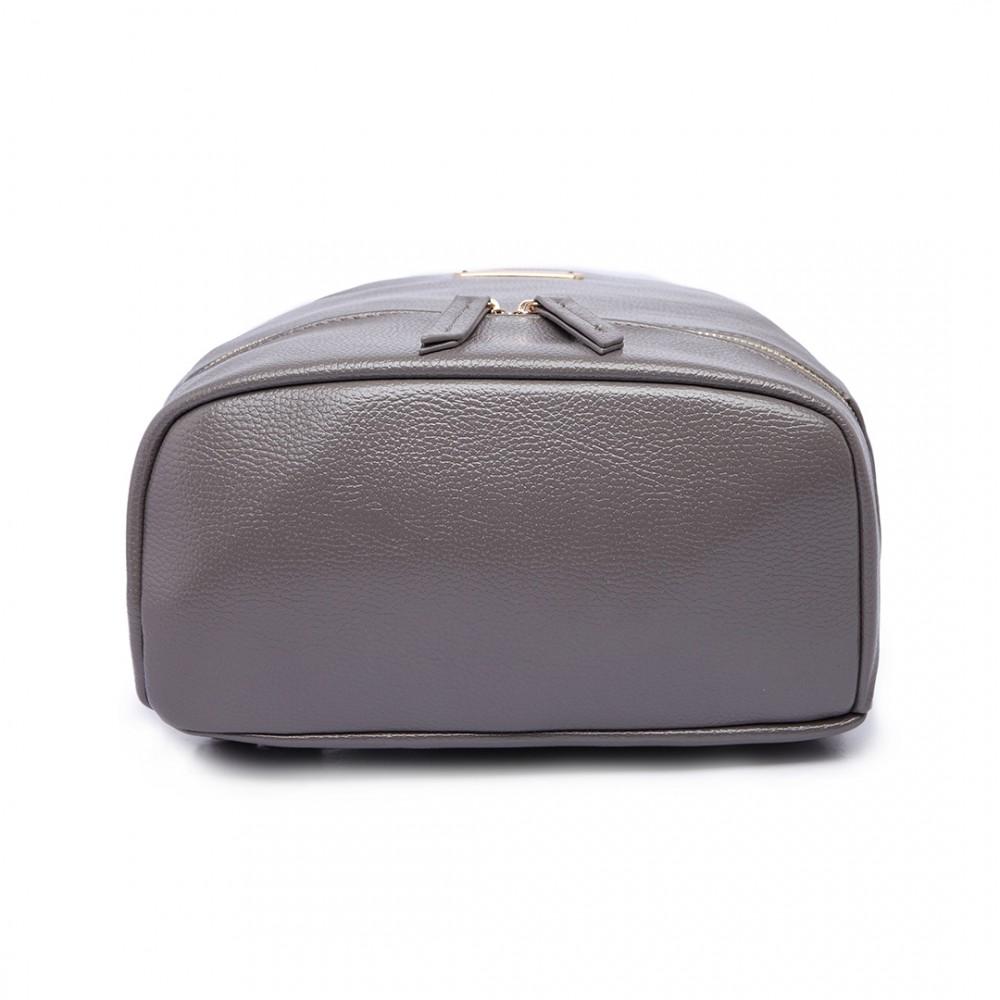 Šedý dámský elegantní batoh Miss Lulu