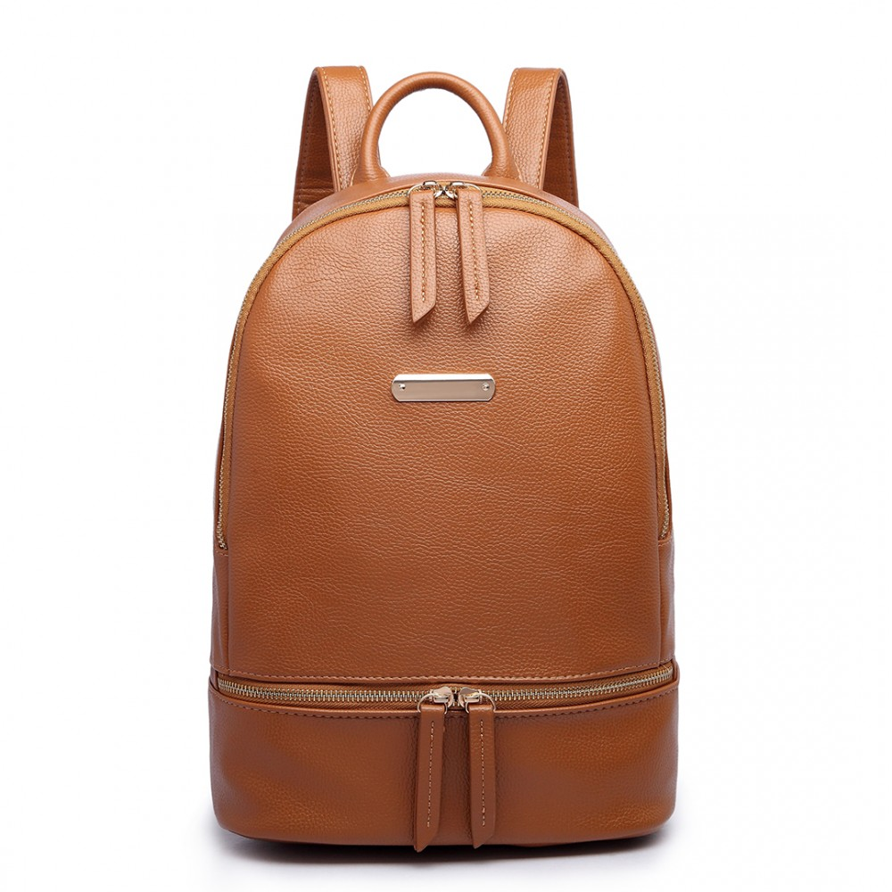 Hnědý dámský elegantní batoh Miss Lulu