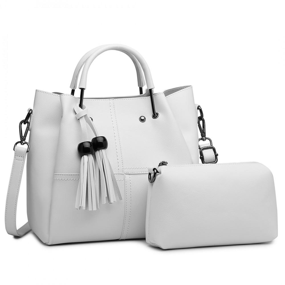 Luxusní béžový dámský kabelkový set 2v1 Miss Lulu