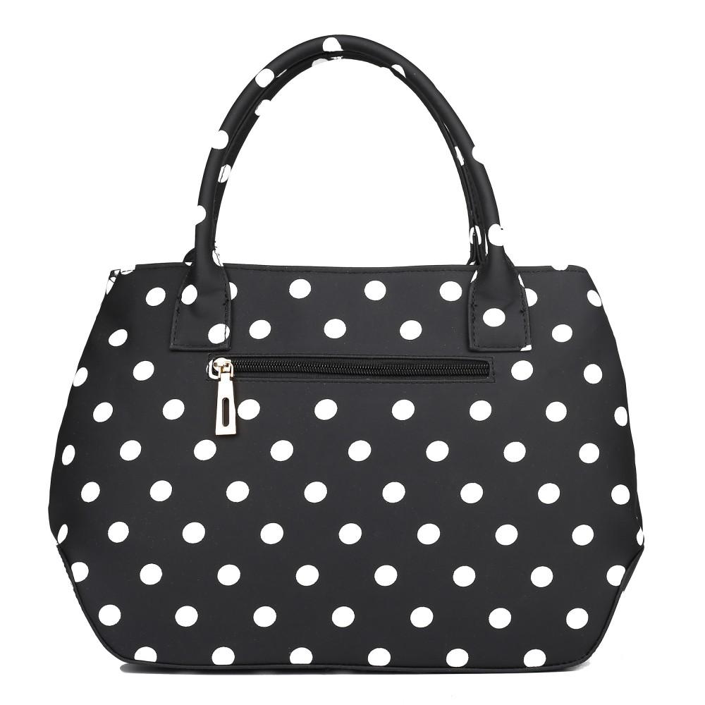 Retro černá kabelka s puntíky Miss Lulu