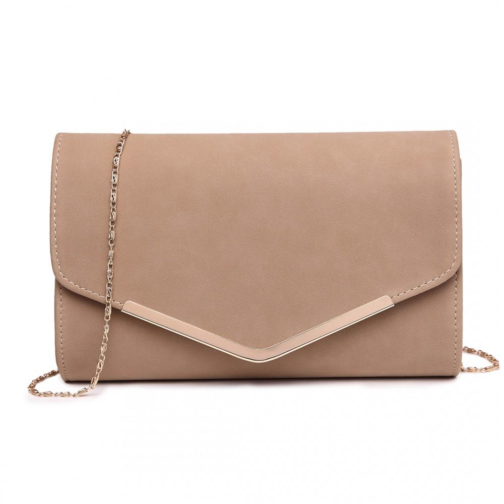 Béžová dámska listová kabelka Miss Lulu