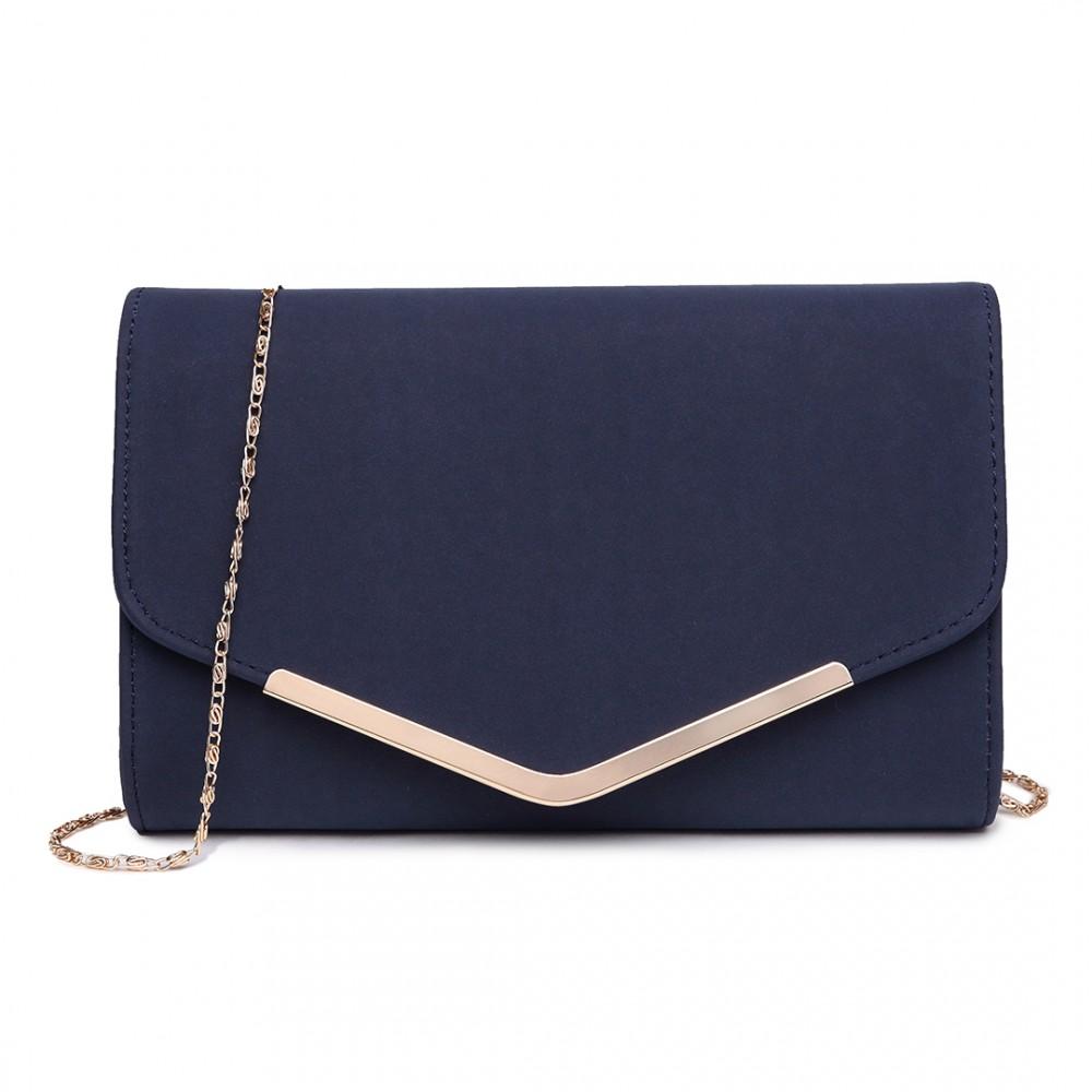 Modrá dámska listová kabelka Miss Lulu