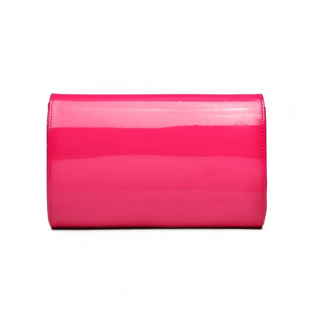 Dámské elegantní psaníčko Miss Lulu růžový lak