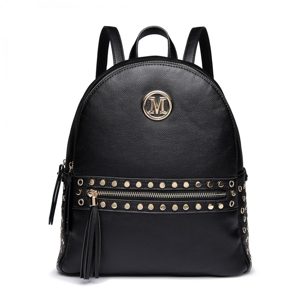Čierny dámsky štýlový batôžtek Miss Lulu