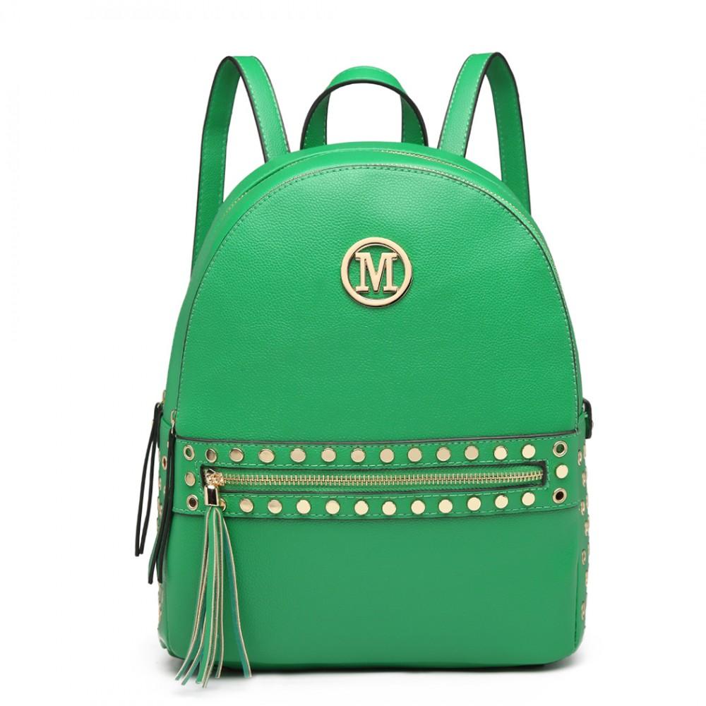 Zelený dámsky štýlový batôžtek Miss Lulu