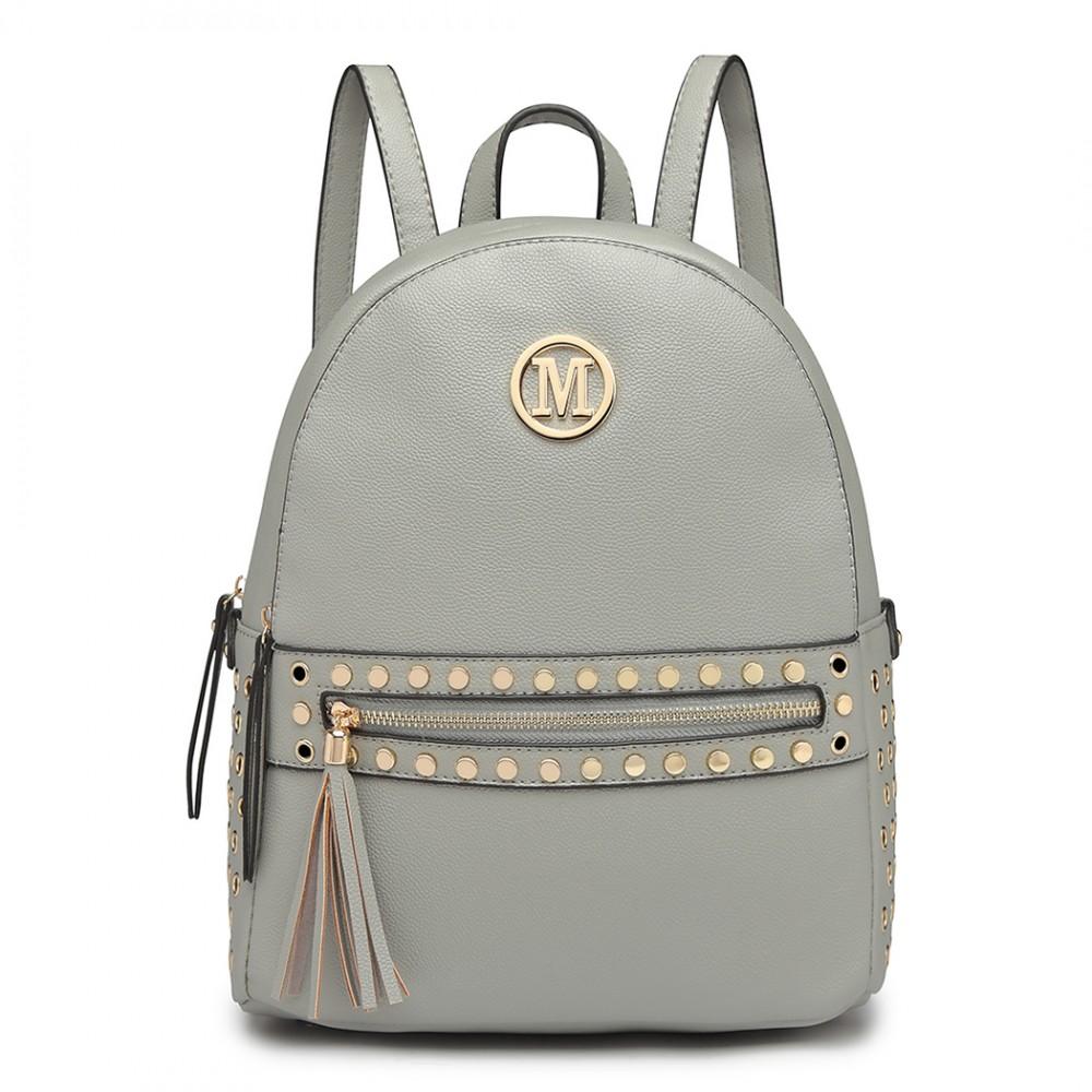 Svetlo šedý dámsky štýlový batôžtek Miss Lulu