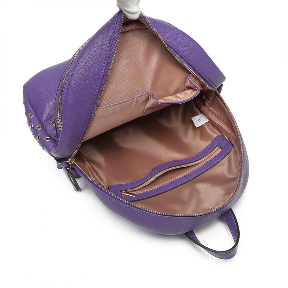Fialový dámský stylový batůžek Miss Lulu