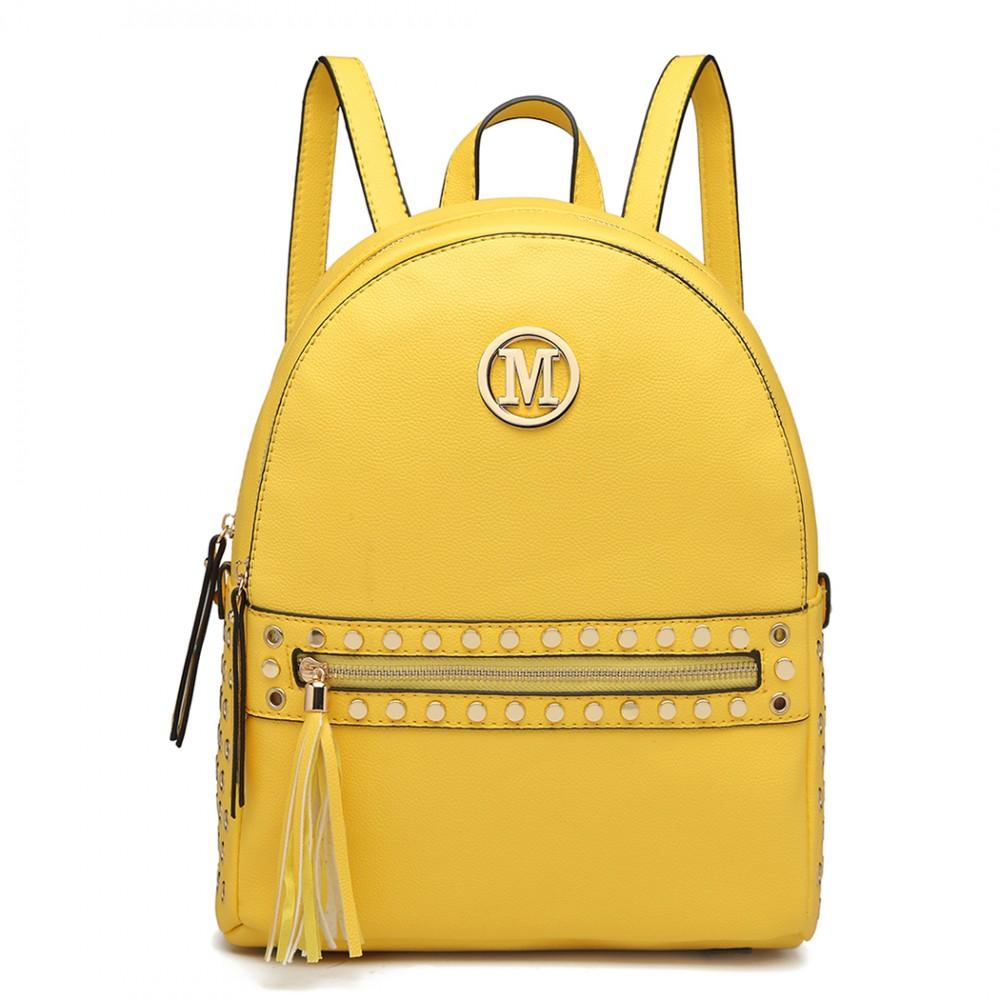 Žltý dámsky štýlový batôžtek Miss Lulu