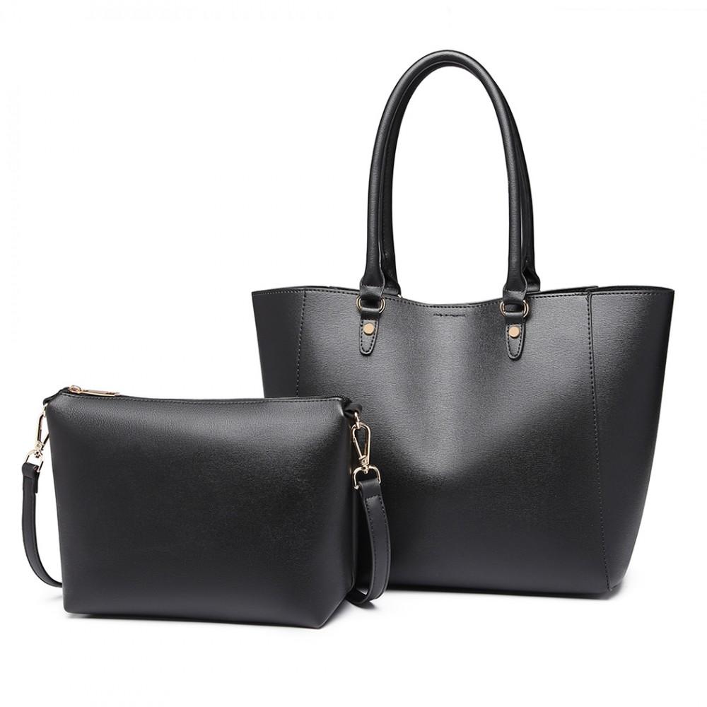 Praktický čierny dámsky kabelkový set 2v1 Miss Lulu