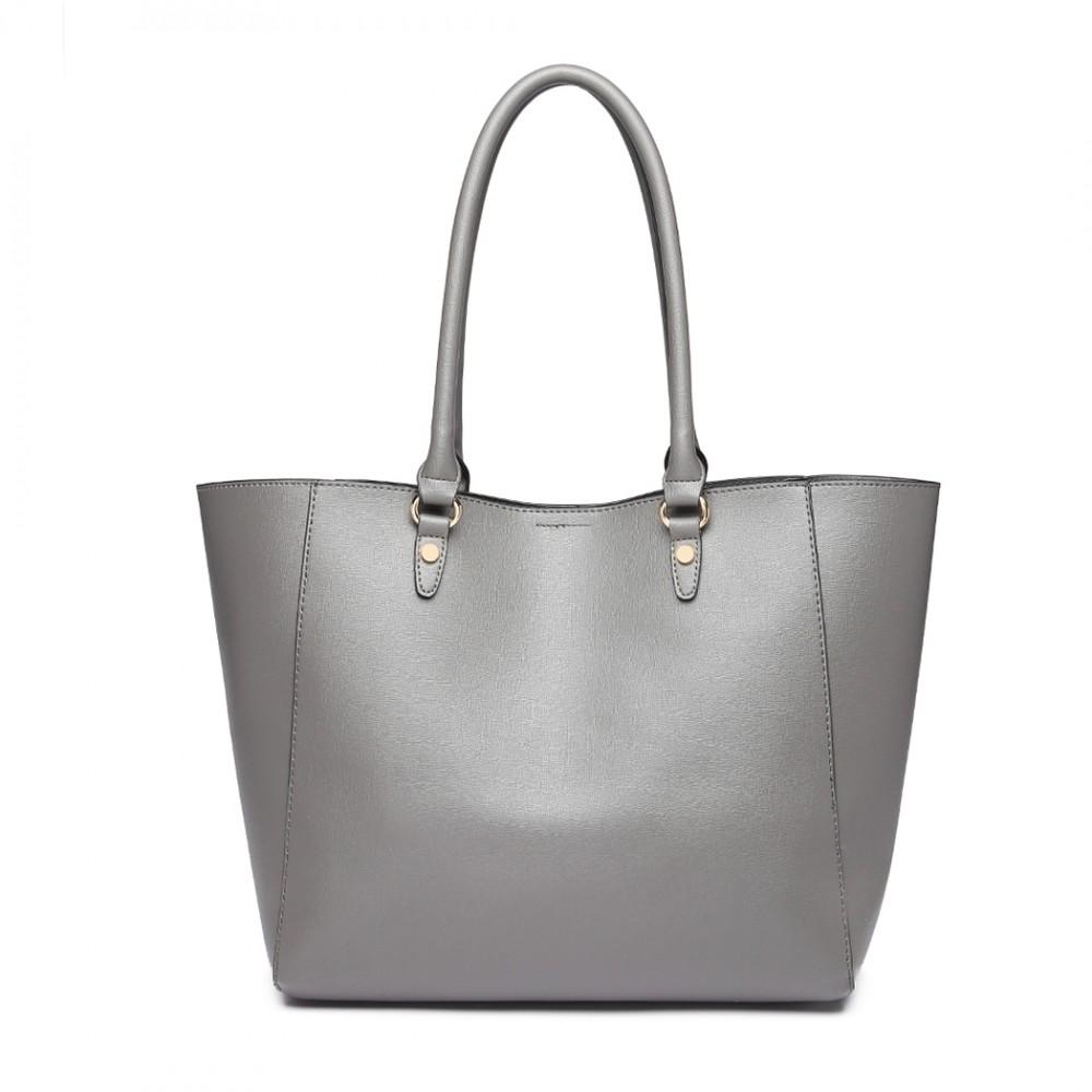 Praktický šedý dámský kabelkový set 2v1 Miss Lulu