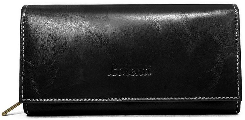 Čierna dámska kožená peňaženka v krabičke Lorenti
