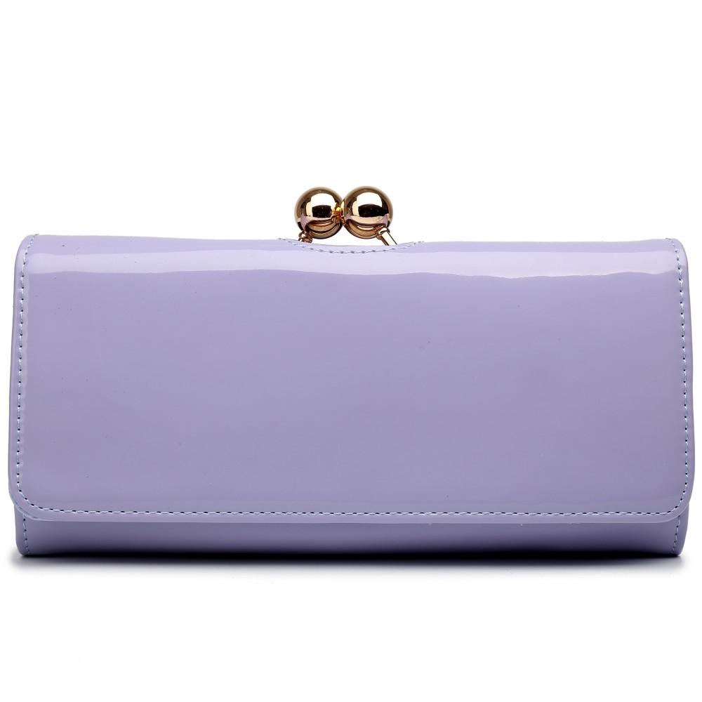 Módní dámská peněženka fialová lakovaná Miss Lulu