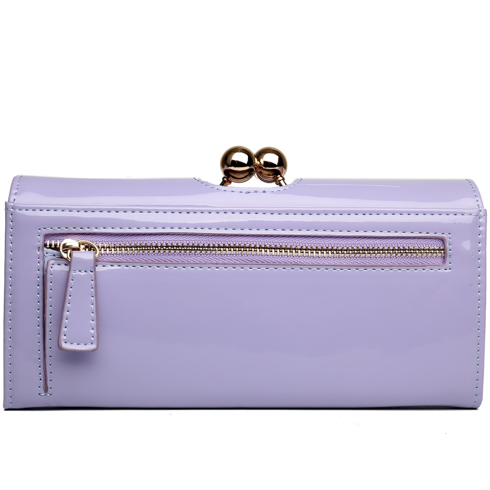 Módna dámska peňaženka fialová lakovaná Miss Lulu