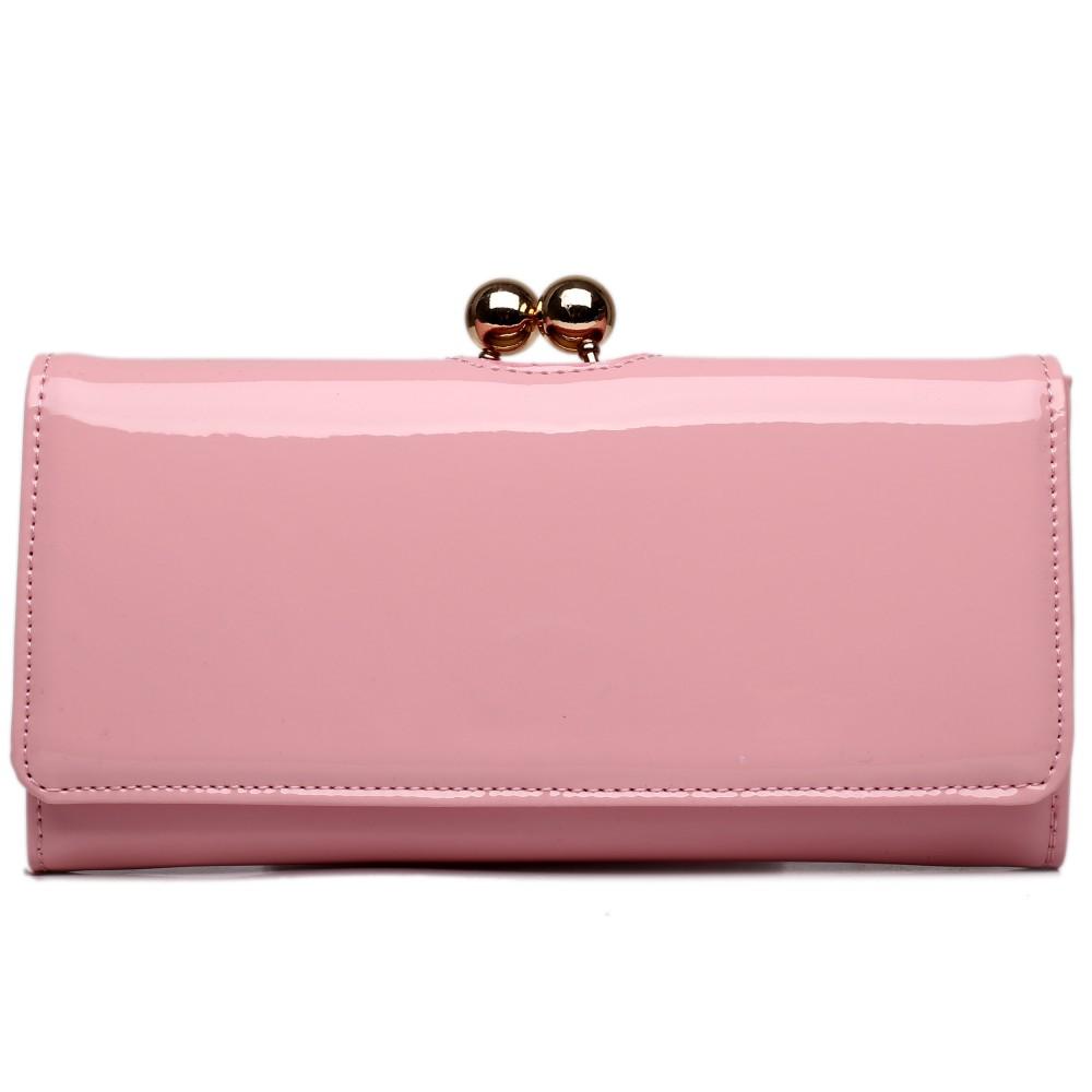 Módní dámská peněženka růžová lakovaná Miss Lulu