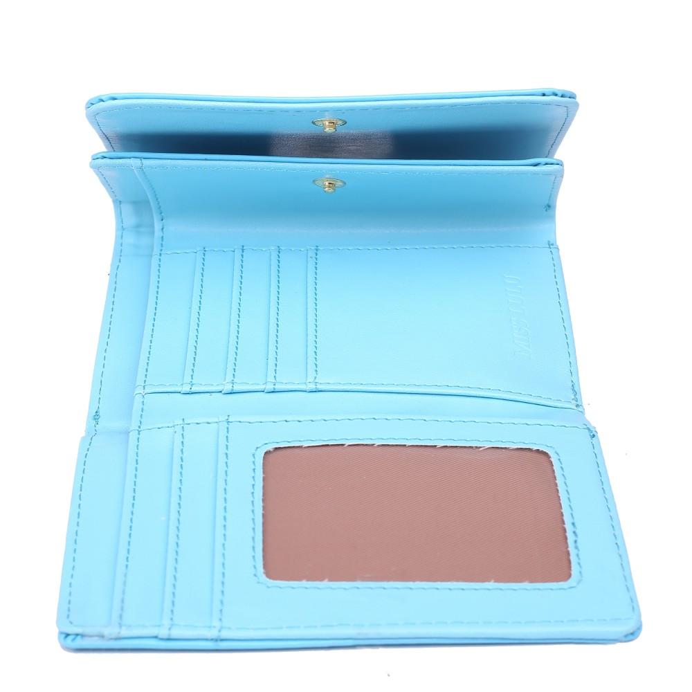 Módna dámska peňaženka svetlo modrý lak Miss Lulu
