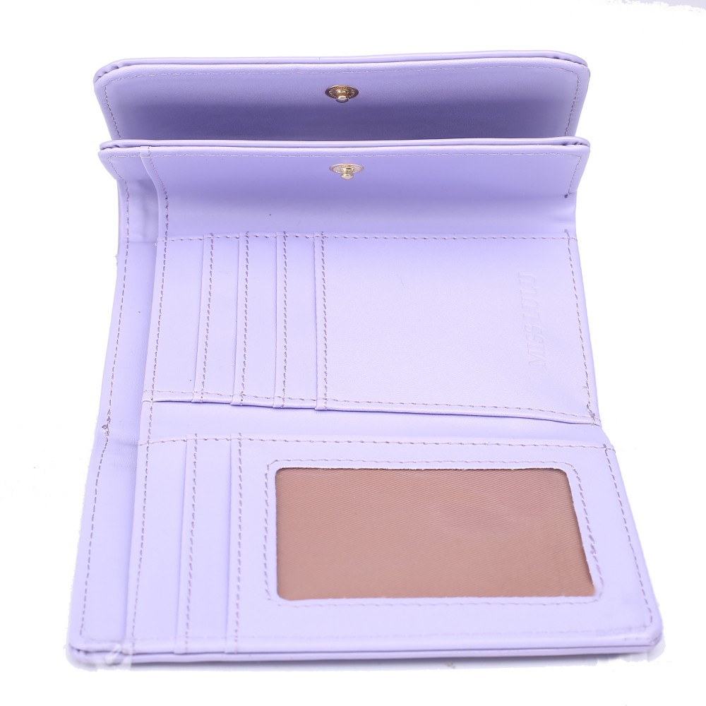 Módní dámská peněženka světle fialový lak Miss Lulu