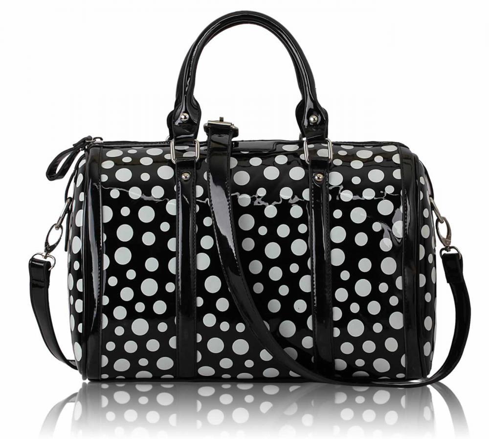 Čiernobiela kabelka LS Fashion LS0069